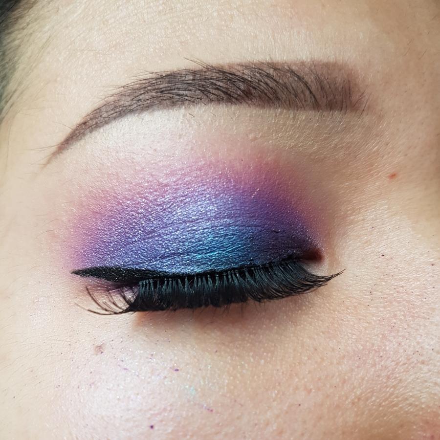 Blue/Purple Smokey Look – Hooded Eyes – Just Beauty Eh?